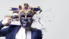Take off the mask !!. (F l S f a h .. ❥) Tags: art colors digital mask weapon pistol bullet فلسفه سلاح رصاص مسدس قناع flsfah فلكرفلسفه