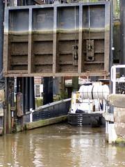 Anderton Boat Lift river exit (DizDiz) Tags: uk england cheshire anderton boatlift riverweaver olympusc720uz