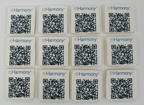 [Image from Flickr]:EHarmony QR Code cookies