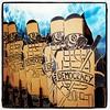 democracy de carton (nefasth) Tags: streetart police cop roadsworth plutocracy iphoneography