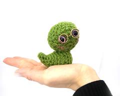 Gareth1 (GretelCreations) Tags: apple animal toy stuffed soft crochet plush kawaii knitted worm amigurumi bookworm