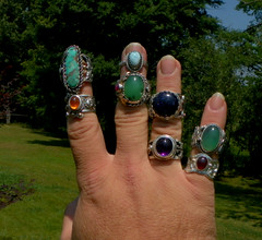 the last month of work (leespicedragon) Tags: art spectacular jewelry handcrafted gemstone fabracated marvinleebillings cabochonoriginal
