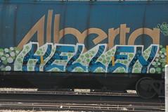 Hellen By Noway (A & P Bench) Tags: train bench graffiti fan graf stock rail canadian graff freight rolling fr8 benching