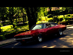 V8 (Mer-IMG) Tags: red art classic vintage us big muscle poland american dodge block hemi v8 charger