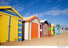Australia (john white photos) Tags: sea beach coast wooden brighton waterfront australian australia melbourne victoria huts coastal change coloured iconic quirky sheds capitalcity bathingsheds