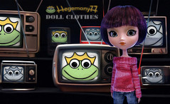 Pullip doll and Hegemony77 doll clothes frogs