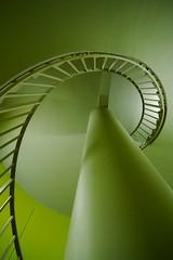 Spirale verte (Groume) Tags: paris stairs spiral university université escalier jussieu spirale 75005 5earrondissement