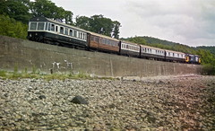 Royal Scotsman at Loch Eil HR scan (Deepgreen2009) Tags: wall train scotland tour railway special luxury fortwilliam mallaig locheil westhighlandline royalscotsman