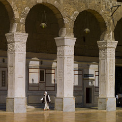 Umayyad Mosque courtyard, Damascus, Syria. (Eric Lafforgue) Tags: city color colour history architecture outdoors photography day arch islam faith religion courtyard mosque syria spirituality majestic damascus unescoworldheritage oneperson middleeastern siria elegance levant syrien syrie grandmosque pavingstone placeofworship umayyad 077 sirja omayyadmosque capitalcities traveldestinations suriye locallandmark   syri buildingexterior onemanonly  sria szria unrecognizableperson  westernasia    suriah sirija  cp  sora