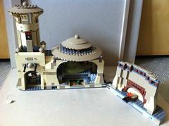 Lego 9516 Jabba's Palace (Jeroen_K) Tags: star outfit desert lego princess bib guard monk palace solo sail jabba wars skiff barge fortuna han chewbacca leia oola crumb 2012 hutt boushh salacious 9516 jabbas gamorrean bomarr