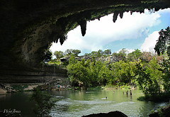 Monster Mouth (wyojones) Tags: people fern water pool austin texas limestone cave np swimmers visitors hillcountry karst naturalwonders sinkhole swimminghole hamiltonpool overhang traviscounty wyojones collapedcave hamiltonpoolpresrve