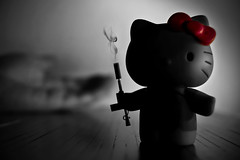 ♫Happiness is a warm gun♫♪.... (Tau Zero) Tags: hellokitty beatles shotgun antonchigur
