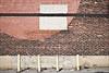 Ligne noire sur carré blanc sur cercle rouge sur mur de briques (• CHRISTIAN •) Tags: wall 35mm nikon montréal geometry bricks mur géométrie biques mtlunguessed d80 gwim