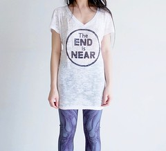 The End Is Near (heatherjoan) Tags: white muscles fashion shirt illustration vancouver vintage hair design clothing pattern purple designer heather medical anatomy local knees printed leggings scientific mitmunk