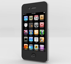 Apple iPhone 4 (Blender) (FutUndBeidl) Tags: apple model ipod blender cgi iphone