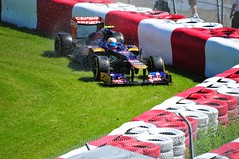 Mark Webber shunt at the Senna S during practice 2012 Canadian Grand Prix (ericok) Tags: canada race montreal f1 canadian grandprix formulaone gp gpf1