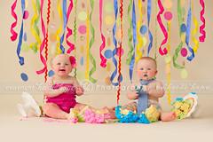 Double Trouble (Heidi Hope) Tags: cake smash twins confetti cakesmash babyphotographer childrensphotographer heidihope heidihopecom richildrensphotographer riportriats