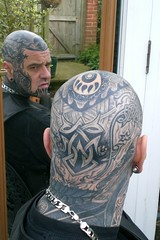 The Celtic Knot at the back of the head (Bear & Rabbit (formerly BC&IKB)) Tags: leather tattoo tribal celtic moko knotwork bearhead facetattoo leatherbear beartattoo necktattoo scalptattoo headtattoo throattattoo facialtattoo bearshead tattooedneck blackngrey tattooedbear tattooedscalp chintattoo tattoobear suffolktattoo uktattoo tattooedchin tattooedthroat inkedinuk tattooedintheuk tattooedleatherbear tattooedleatherman
