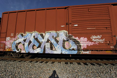 Aeyso (Revise_D) Tags: graffiti revise graff tagging fr freight revised trainart fr8 bsgk benching aeyso fr8heaven fr8aholics revisedesigns fr8bench benchingsteelgiants freightlyfe