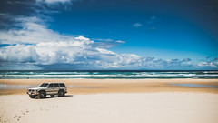 Fraser Island, Queensland ( Sooty ) Tags: blue beach clouds canon island eos fishing sand surf angle zoom wide australia 4wd crop queensland cropped fraser cinematic 169 efs sensor 70d apsc 1585mm