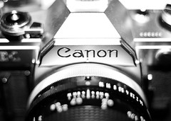 My Canon AE-1 (NigglsPhotography) Tags: canon 1 bokeh unscharf schwarz ae weis