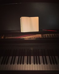 Composing (ThisIsReflection) Tags: morning music inspiration oslo norway pen dark keys creativity book early spring alone notes piano harmony moment iphone composing grandpiano 2016