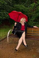 Heusenstamm2 (Tinaturtle27) Tags: rain leather transvestite pantyhose crossdresser