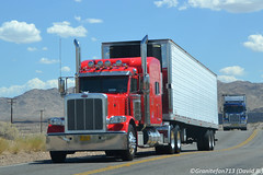 Unknown Peterbilt 389 (CA) (Trucks, Buses, & Trains by granitefan713) Tags: tractor truck hood reefer sleeper peterbilt 18wheeler tractortrailer bigrig 389 largecar longhood peterbilttruck trucktractor refrigeratedtrailer peterbilt389 sleepertractor