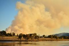 Burnoff out Dam way (Luke6876) Tags: trees water dam smoke burnoff tenterfield