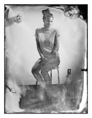 Zoe (Baipin) Tags: camera portrait white black art film home wet netherlands glass girl beautiful dutch boston lady female silver lens photography idea for this diy am crazy shoot image swiss gorgeous doing made derek sit wetplate congo custom result strobe sinar emulsion cambo bipin bowens glassplate collodion agno3 hairbrained broncolor bealart
