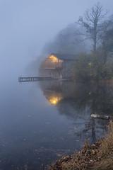 Ullswater Dawn (Kathy ~ FineArt-Landscapes) Tags: mist fog dawn britain lakedistrict cumbria bluehour boathouse ullswater dukeofportland