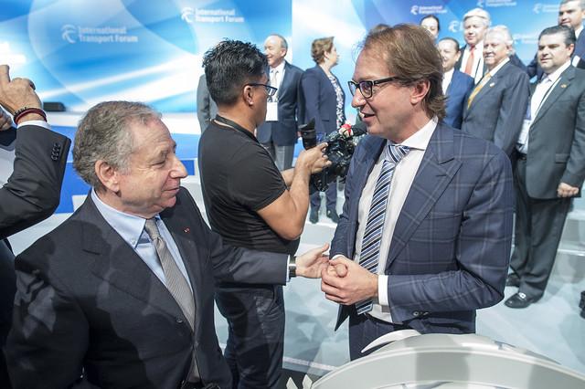Jean Todt greets Alexander Dobrindt