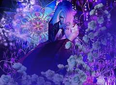 (Light_Aoshimori) Tags: flower male nature mystery purple dream violet demon bloom kimono magical whimsical