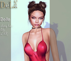 """=DeLa*= New hair """"Belle"""" (=DeLa*=) Tags: new hair mesh style sl secondlife dela uber materials fitted secondlifefashion slhair"""