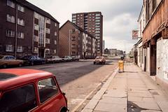 George Street, Paisley. (ianrwmccracken) Tags: film 35mm canon lens march scotland 28mm slide positive 29 paisley 1985 georgestreet kodachrome64 fd ae1program