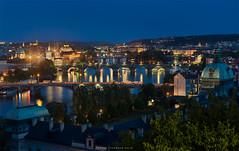Moldava Bridges, Prague (Antoni Figueras) Tags: longexposure river prague bridges praha praga czechrepublic bluehour blending moldava letnapark cz1680 sonya77ii