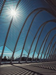 agora (dan.boss) Tags: sun backlight shadows bluesky athens greece calatrava olympia olympicpark agora santiagocalatrava olympicgames sunstars olympia2004