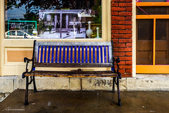 Purple Bench (Jae at Wits End) Tags: door color building window glass architecture bench purple seat rustic entrance objects structure doorway opening portal seating entry