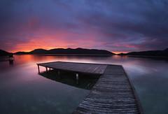Pink Sunset in Mochima, Venezuela (c a m i l y - ph) Tags: ocean longexposure pink naturaleza nature atardecer muelle dock venezuela 15mm mirador granangular mochima