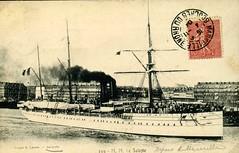 1895-1905 - SALAZIE au dpart de Marseille (MIKOS-35) Tags: les paquebots postes des messageries avaient une livre blanche lorsquils taient sur la ligne dextrmeorient sagon japon et coque noire autres lignes
