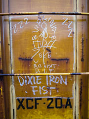 VIRGINIA ZEKE (TRUE 2 DEATH) Tags: railroad art train graffiti streak tag graf railcar boxcar railways hobo railfan freight dif freighttrain rollingstock monikers moniker  meanstreaks hobotag hobomoniker buzblurr hoboart benching paintsticks railroadart boxcarart oilbars freighttraingraffiti dixieironfist virginiazeke markals ricohgriv buzvisit