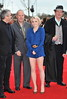 Alfonso Cuaron, David Yates, Evanna Lynch, Mike Newell The worldwide Grand Opening event for the Warner Bros. Studio Tour London 'The Making of Harry Potter' held at Leavesden Studios London, England