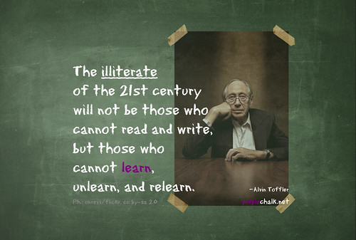 Learn, unlearn, relearn by purplechalk, on Flickr