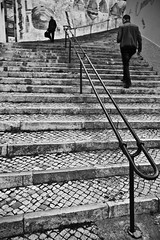 Up & Down (Mathieu Testa) Tags: underground bwx photographyx peoplex blackwhitex lisbonx