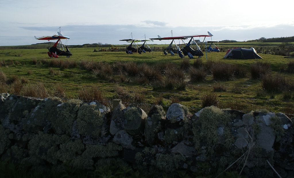 Microlights put to bed so the owners can go to the pub
