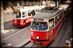 take the tram (TheOtherPerspective78) Tags: vienna wien red lensbaby tram publictransport stadthalle bb zentralfriedhof strassenbahn bim burggasse ffis lensbabycomposer theotherperspective78