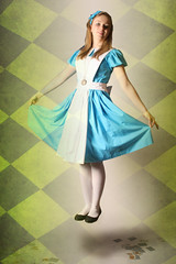 Alice In Wonderland (AbbeyT_23) Tags: cards pattern surreal floating levitation aliceinwonderland layering