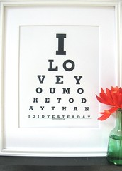 I Love you  Home Sign (eyecharts.etsy.com) Tags: home sign modernart californiaart lovequotes weddingsigns cutegifts romanticgift weddingtabledecoration shabbychicsigns cutelovesayings happilyeveraftersign weddingeyechart iloveyoueyechart