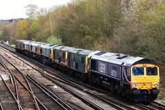Great British Rail Fr(eight) (stavioni) Tags: station train power phil diesel charlotte lisa rail railway electro kirsten chinook convoy freight packer drax class66 class73 66710 gbrf 66724 66739 73141 73208 73206 73213 66723