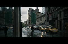 Catz N Dogz (Dj Poe) Tags: street new york city nyc cinema color rain digital photography spring dj candid voigtlander rangefinder epson cinematic raining seiko poe f4 2012 rd1 21mm